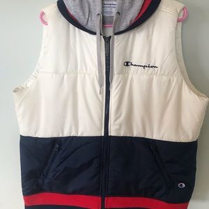 Champion hooded puffy vest XL.